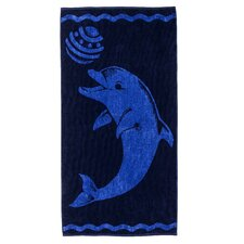 Superior Playing Dolphin Beach Towel