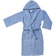 Premium Long-Staple Combed Cotton Kids Hooded Bathrobe