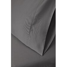 425 Thread Count Cotton Solid Pillowcase Set (Set of 2)