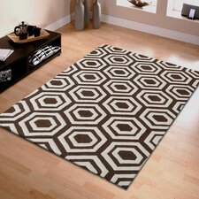 Superior Hand Tufted Brown/Ivory 5' x 8' Area Rug