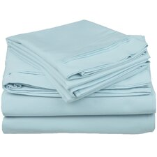 650 Thread Count Premium Long-Staple Combed Cotton Solid Sheet Set
