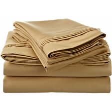 1500 Thread Count Premium Long-Staple Combed Cotton Solid Sheet Set