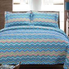 Zig Zag Cotton 2 Piece Quilt Set