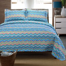 Zig Zag Cotton 3 Piece Quilt Set