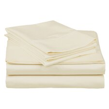 400 Thread Count Premium Long-Staple Combed Cotton Solid Sheet Set