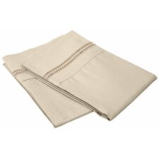 Heritage 3000 Series Solid-2 Line Embroidery Pillowcase (Set of 2)