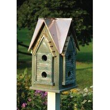 Copper Mansion Birdhouse