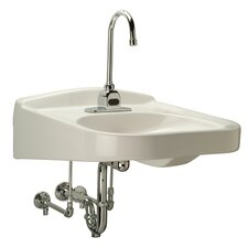 Wheelchair ADA Bathroom Sink with Half Pedestal