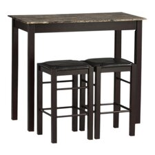 Prosser 3 Piece Counter Height Dining Set