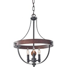 Alston 3 Light Candle Chandelier