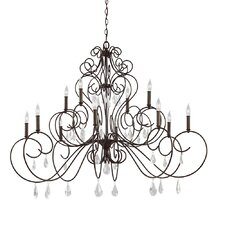 Angelette 12 Light Candle Chandelier