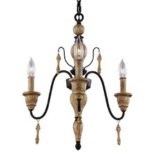 Matrimonio 3 Light Candle Chandelier