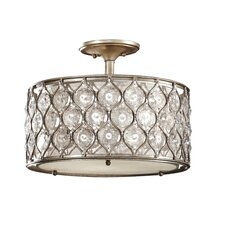 Lucia 3 Light Semi Flush Mount