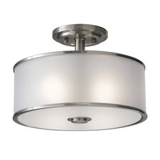 Casual 2 Light Semi Flush Mount
