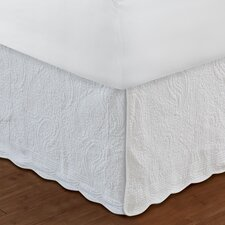 Paisley Quilted 136 Thread Count Bed Skirt