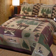 Moose Lodge 3 Piece Quilt Set