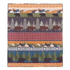 Bear Lodge Quilted Throw