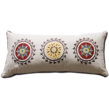 Andorra Embroidered Cotton Boudoir Pillow