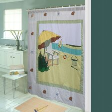 Ocean View Cotton Shower Curtain
