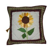 Sun Burst Cotton Throw Pillow