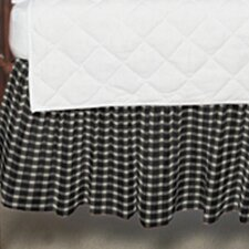 Gingham Checks Fabric Crib Dust Ruffle