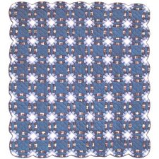 Blue Double Wedding Ring Quilt