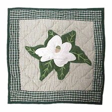 Magnolia Blossoms Cotton Throw Pillow