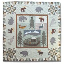 Mountain Whispers Cotton Shower Curtain