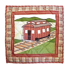 Train Toss Cotton Throw Pillow