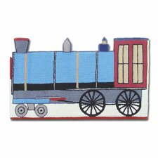 Train Blue Area Rug