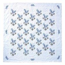 Blue Bonnets Cotton Shower Curtain