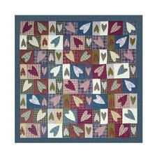 Primitive Hearts Cotton Shower Curtain