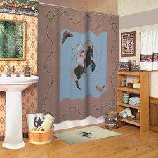 Cowboy Cotton Shower Curtain