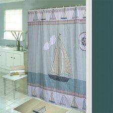 Nautical Cotton Shower Curtain