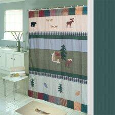 Northwoods Walk Cotton Shower Curtain