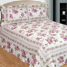 Peony Bloom 3 Piece Quilt Set
