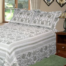 Wisteria 3 Piece Quilt Set
