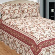 Old Rose Corona 3 Piece Quilt Set