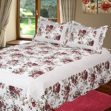 Bella Rosa 3 Piece Quilt Set