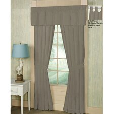 Cotton Window Tab Top Curtain Panels (Set of 2)