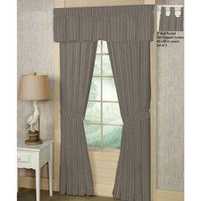 Plaid Cotton Rod Pocket Window Curtain Panels (Set of 2)