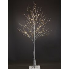 7' Artificial Christmas Tree with 120 LED White Lights