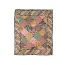 Harvest Log Cabin Cotton Crib Quilt