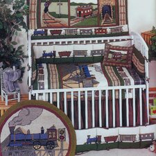 Train 9 Piece Crib Bedding Set