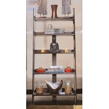 """Tribecca 76"""" Leaning Bookcase"""