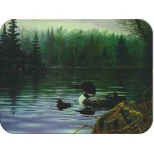 Tuftop Loons in the Mist Cutting Board