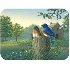 Tuftop Country Morning Bluebirds Cutting Board