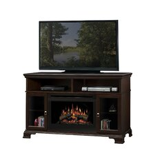 Brookings TV Stand with Electric Log Fireplace