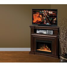Montgomery TV Stand with Electric Ember Bed Fireplace