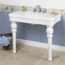 Versailles Console Bathroom Sink with Center